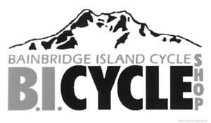 Bainbridge Island Bicycle Shop Logo for Farm Fresh Mountain Bike and Cyclocross Race